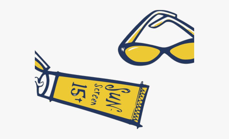 Sunglass sun screen drawing. Sunglasses clipart sunscreen