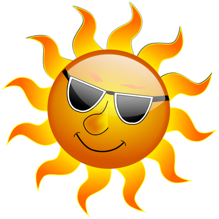 Bright cliparts zone sun. Sunglasses clipart sunshade
