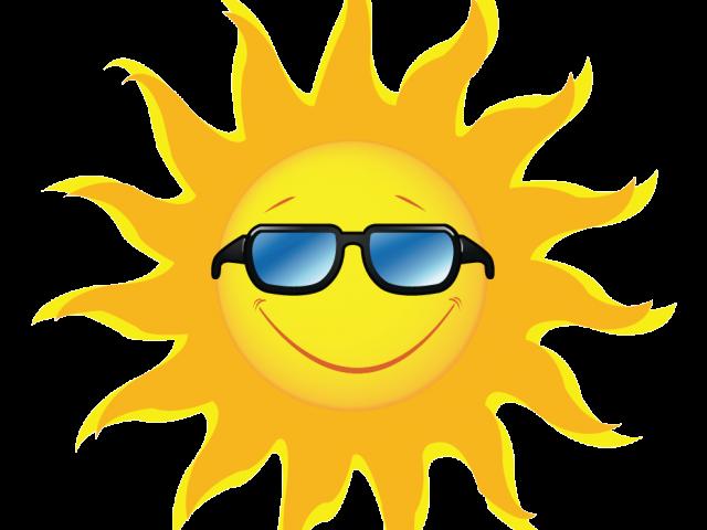 Sunny clipart sunglass. Cartoon sun with sunglasses