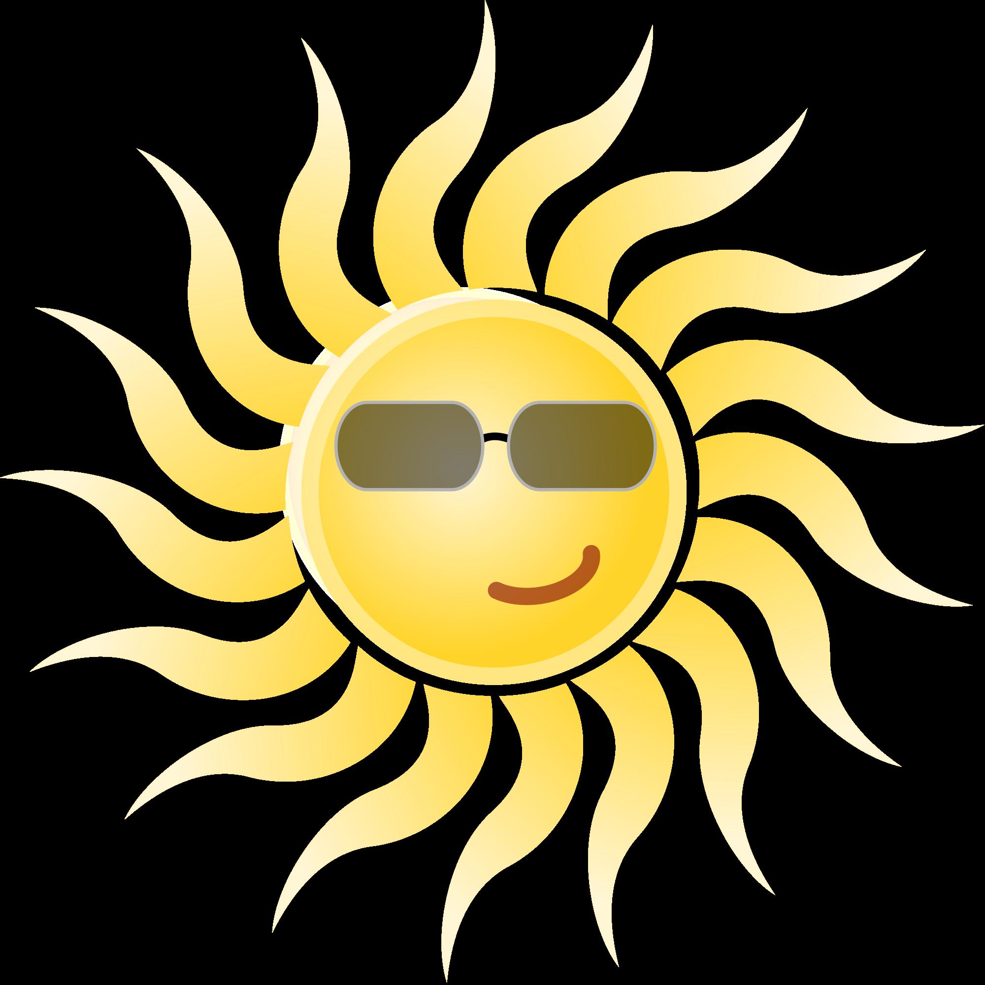 Sunny clipart real. File sun wearing sunglasses