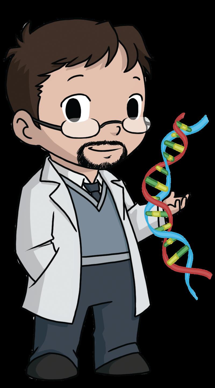 clip art image. Scientist clipart science man