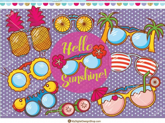 Summer vector eps png. Clipart sunglasses tropical