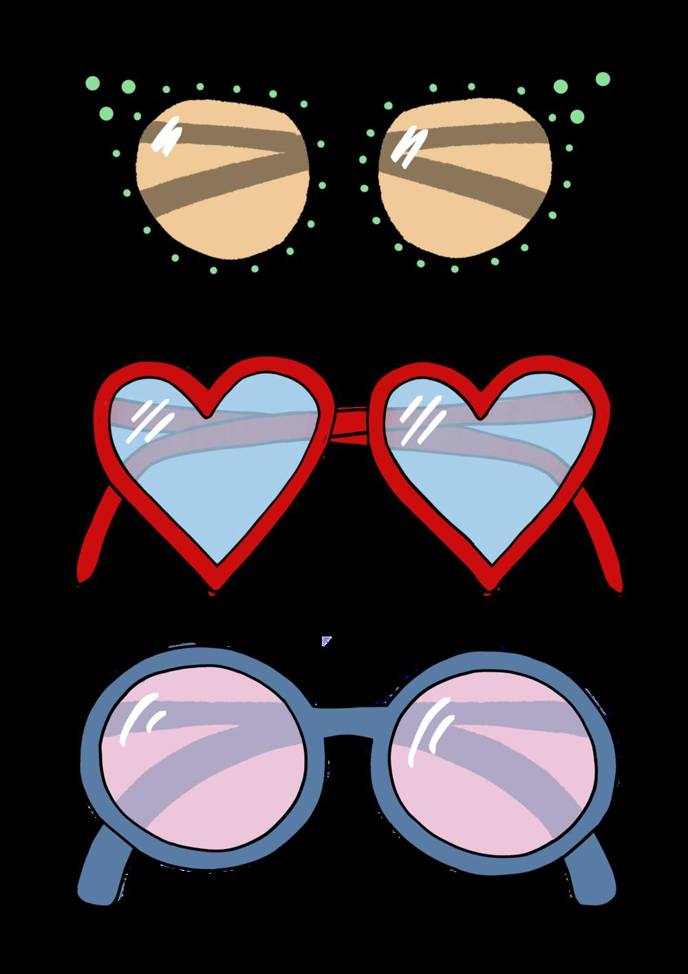 Sunglasses clipart watercolor. Portfolio natalie meagan spectacles