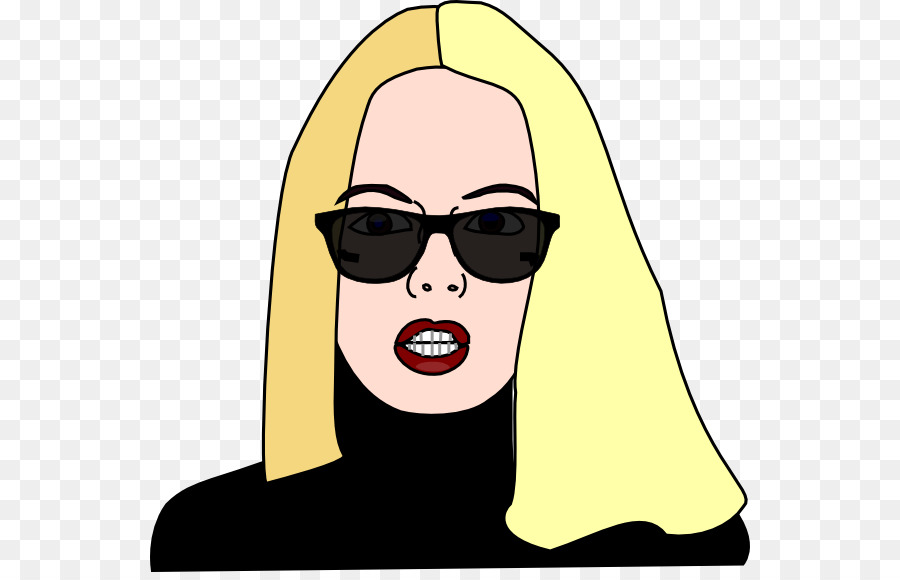 Cartoon nose . Clipart sunglasses woman clipart