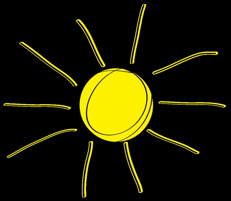 Sunshine half sun . Sunny clipart colored
