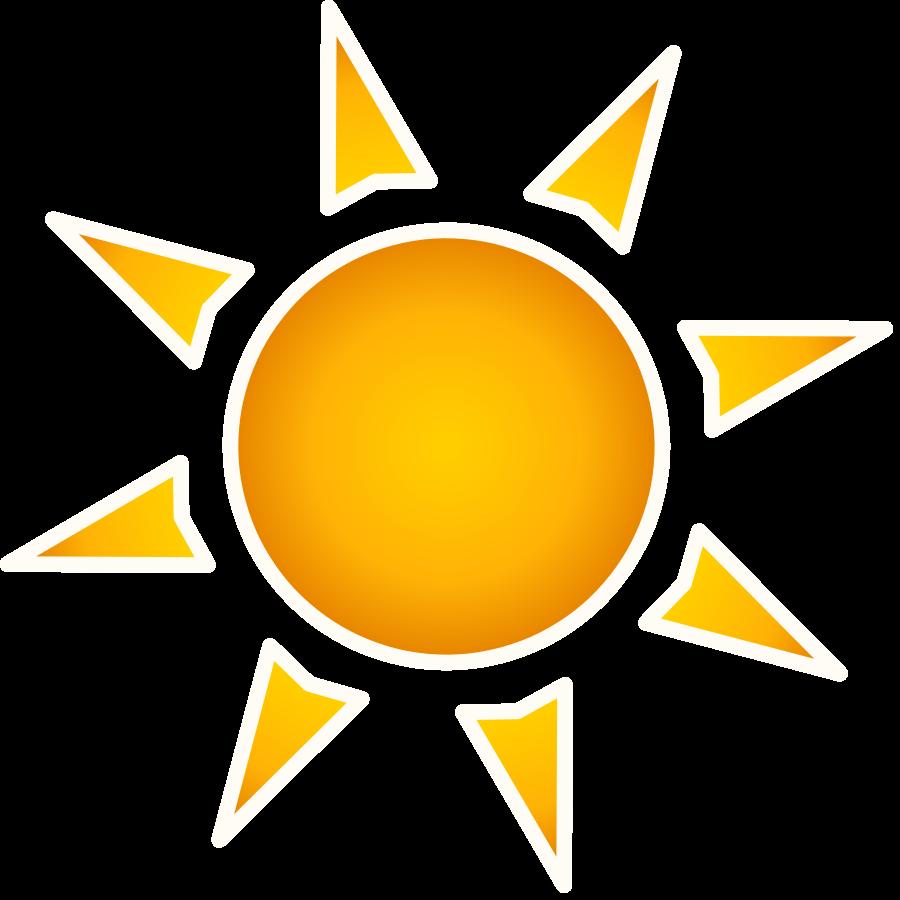 Sunny clipart warm. Sunlight corner sun pencil