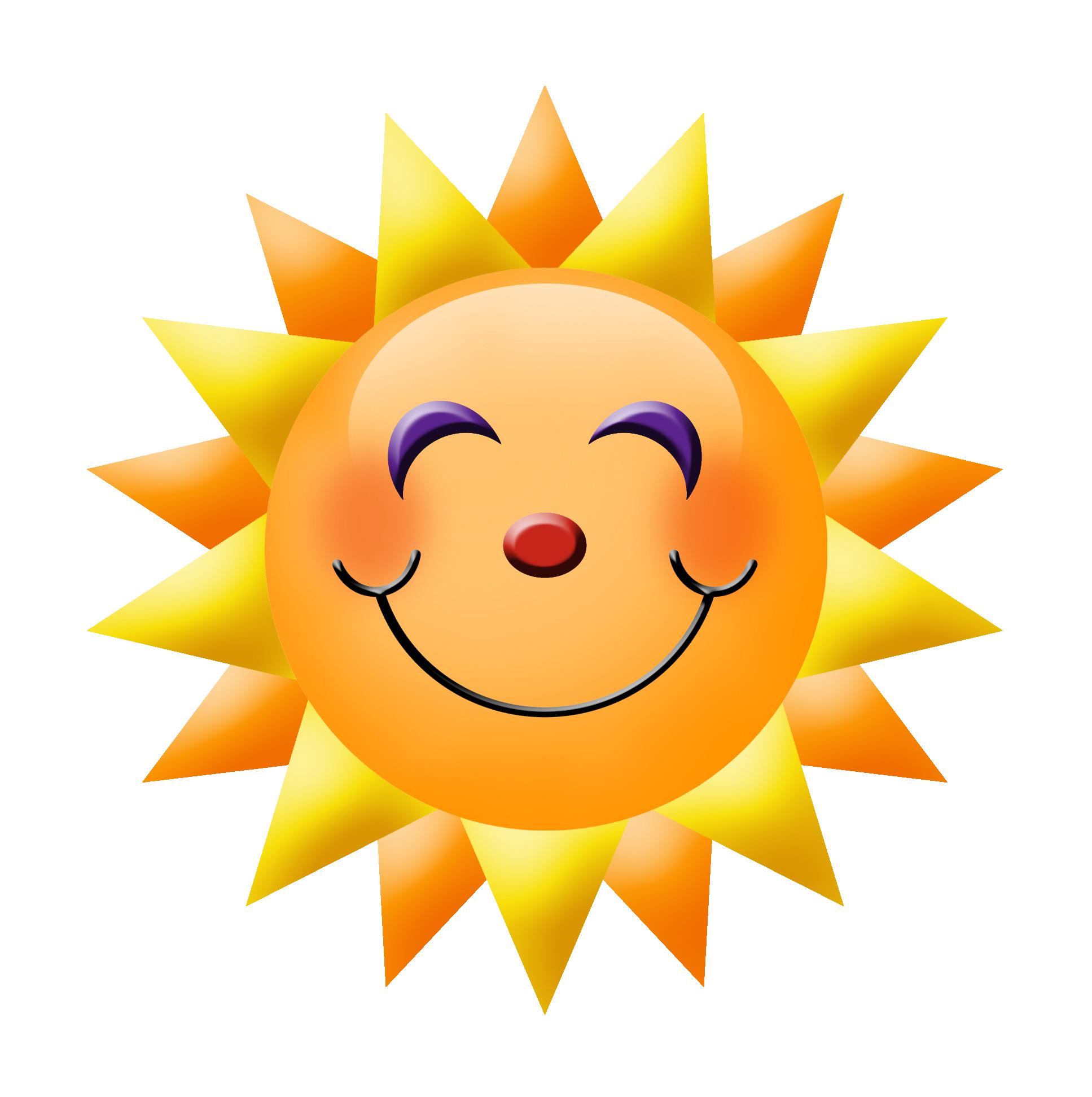 Clipart sunshine face. Free smiley sun cliparts