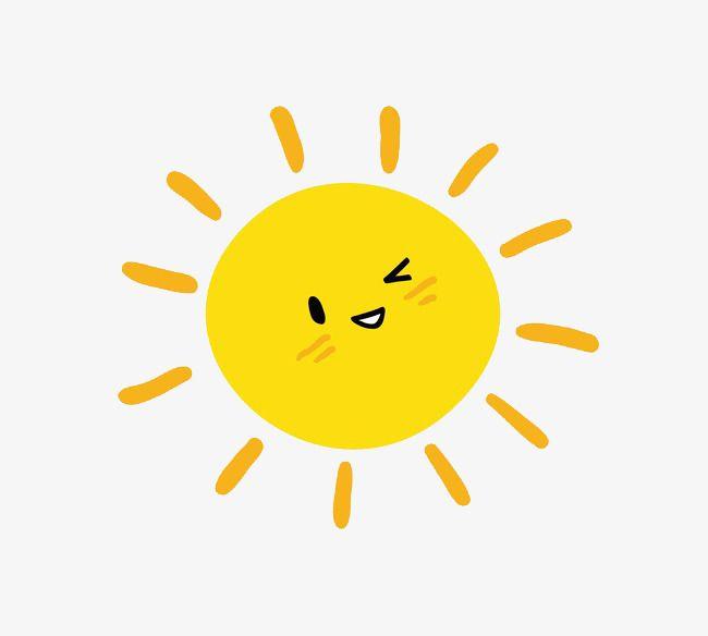 Vector cartoon sun . Clipart sunshine file