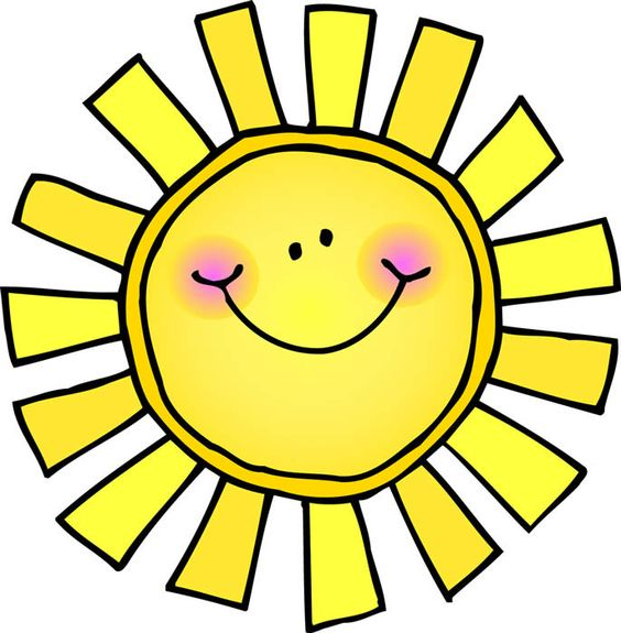 Free girly sun cliparts. Sunny clipart cute