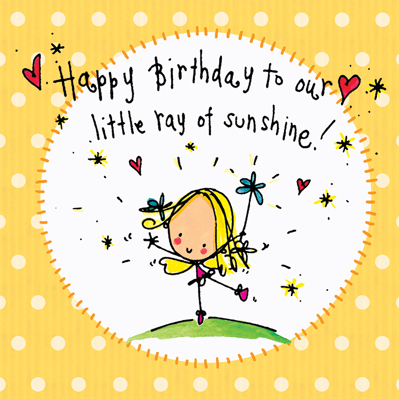 Clipart sunshine happy birthday. To our little ray