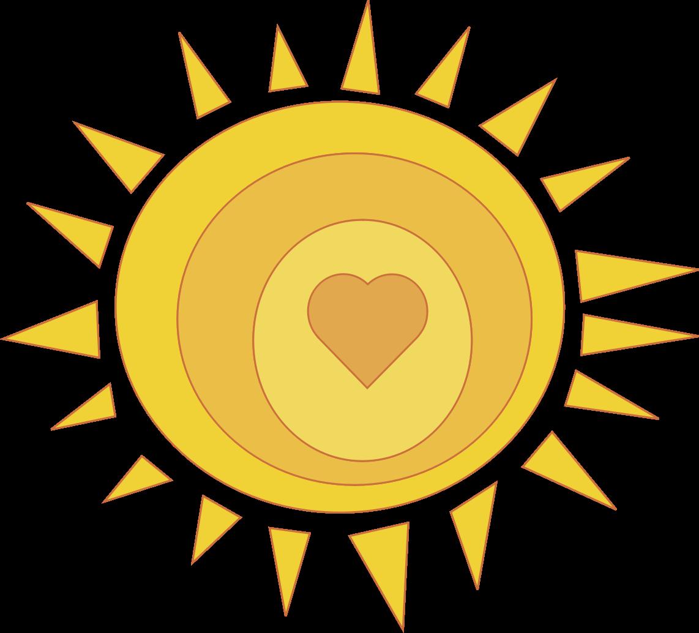 Sunlight clip art png. Clipart sunshine heart sunshine