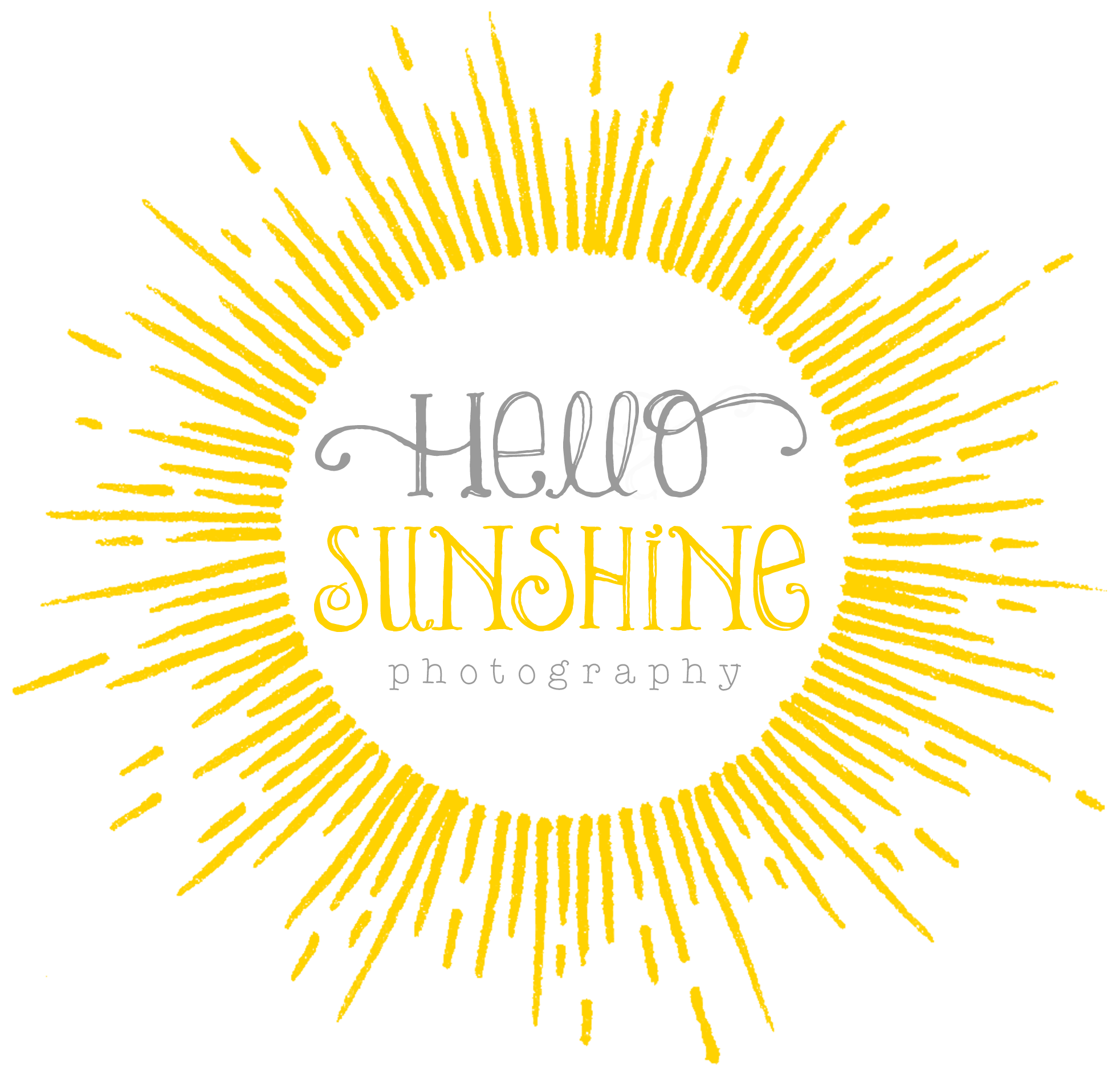 Hello sunshine photography logo. Sunny clipart shutter shades