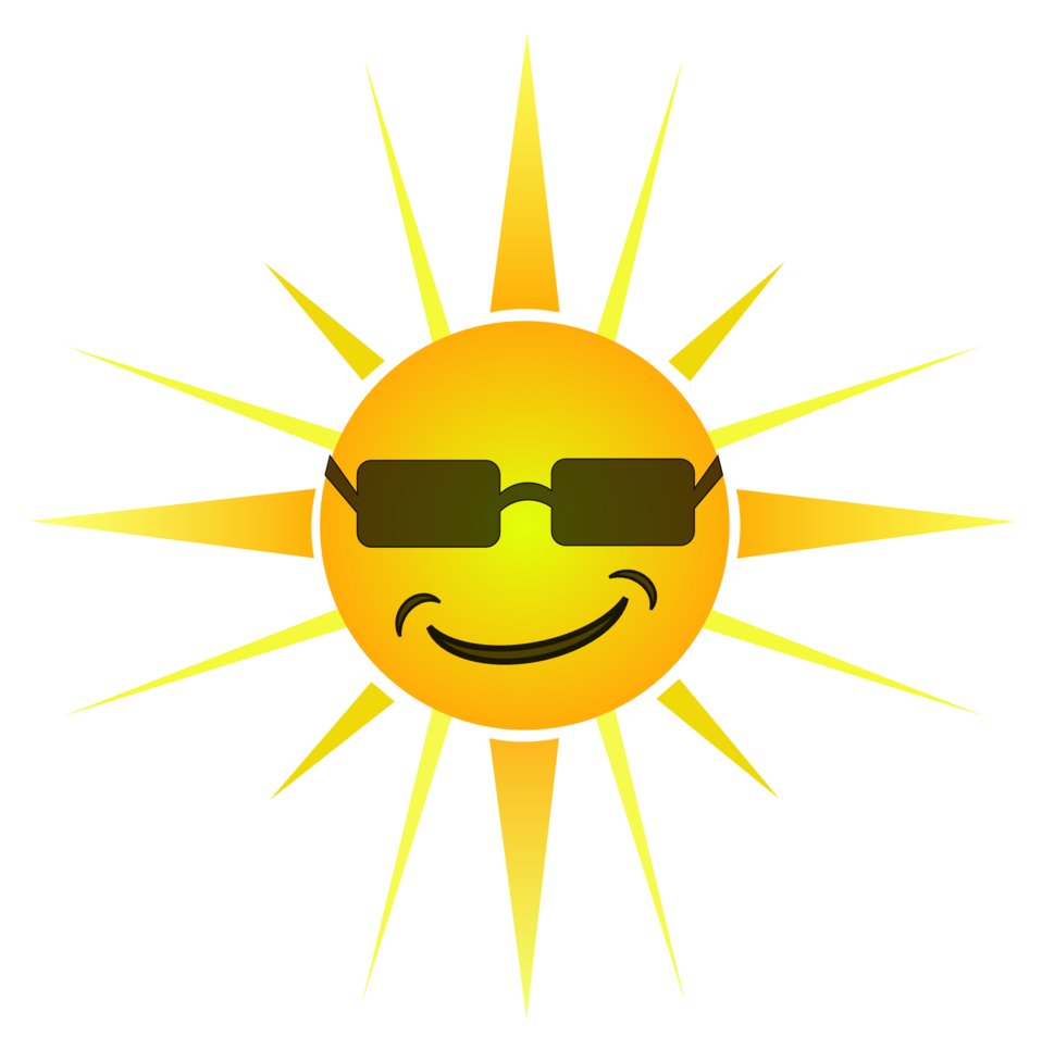 Clipart sunshine icon. Public domain clip art