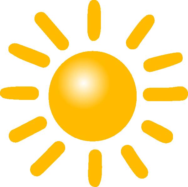 Large pale clip art. Dot clipart sun