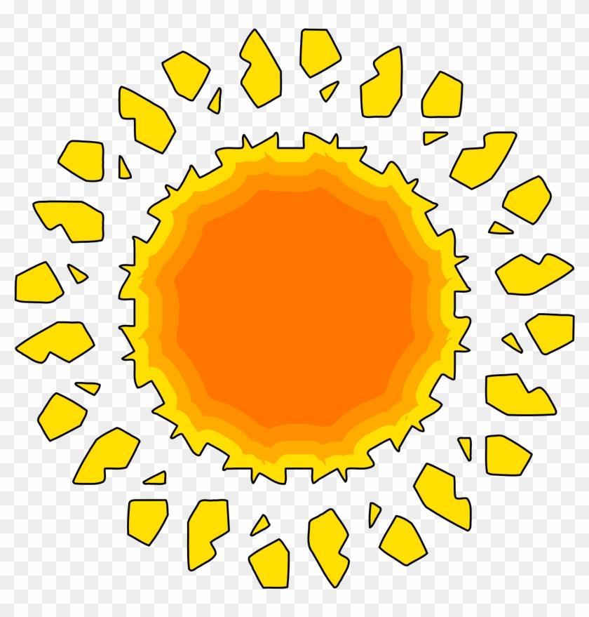 Sun relogio cones cor. Clipart sunshine orange