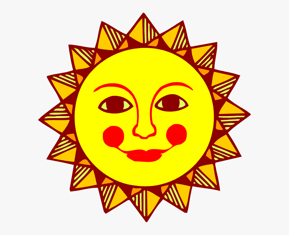 Clipart sunshine orange. Sun face clip art
