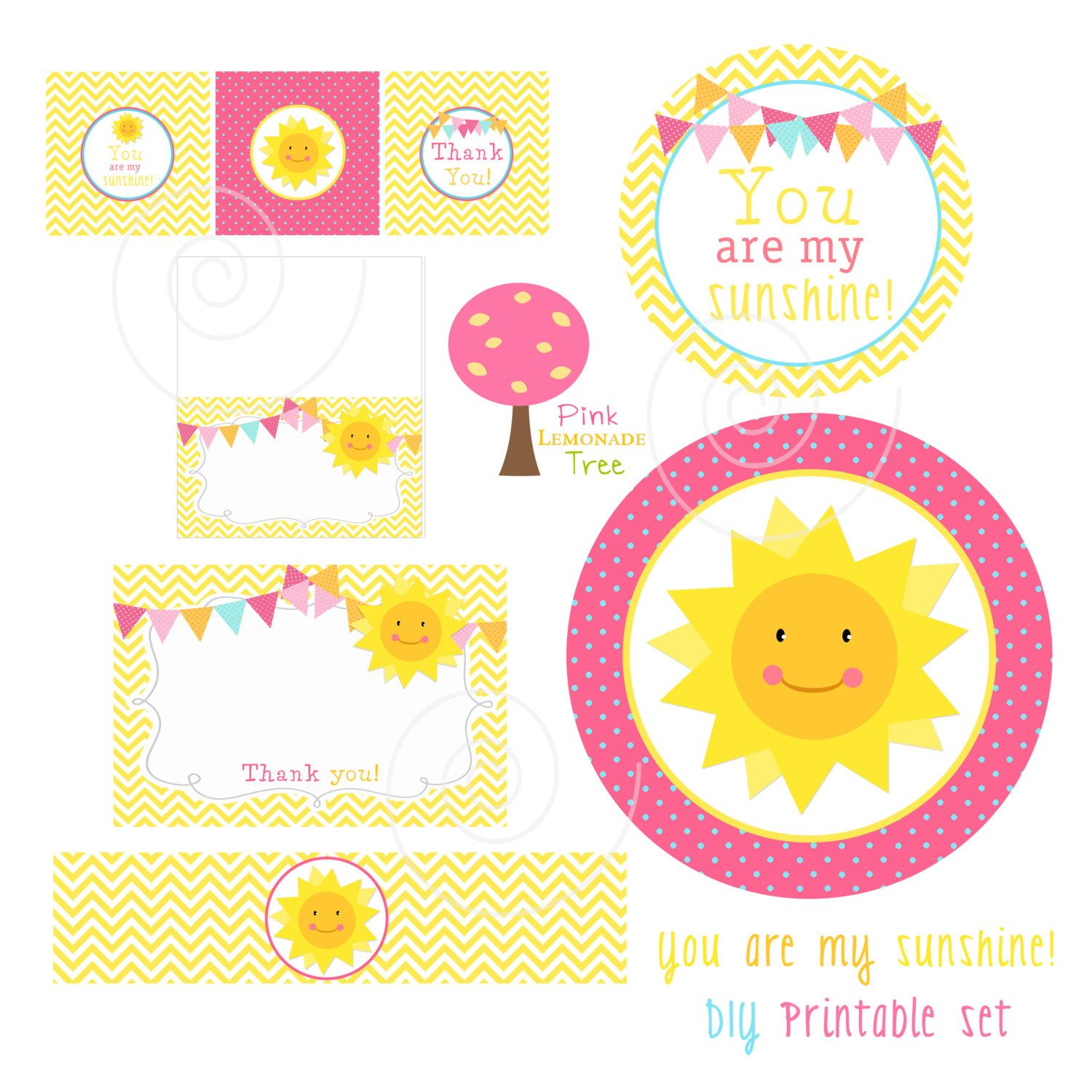 Clipart sunshine party. Thank you pencil and