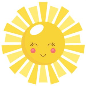 Sunny clipart cute. Free sunshine cliparts download