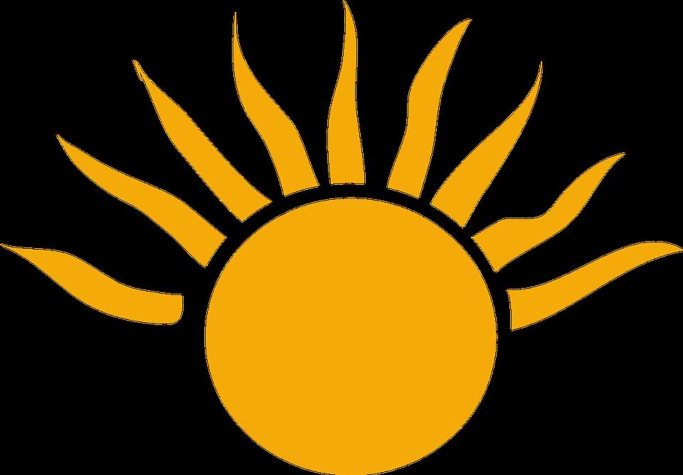 Sunset clipart easter sunrise. Half sun with rays