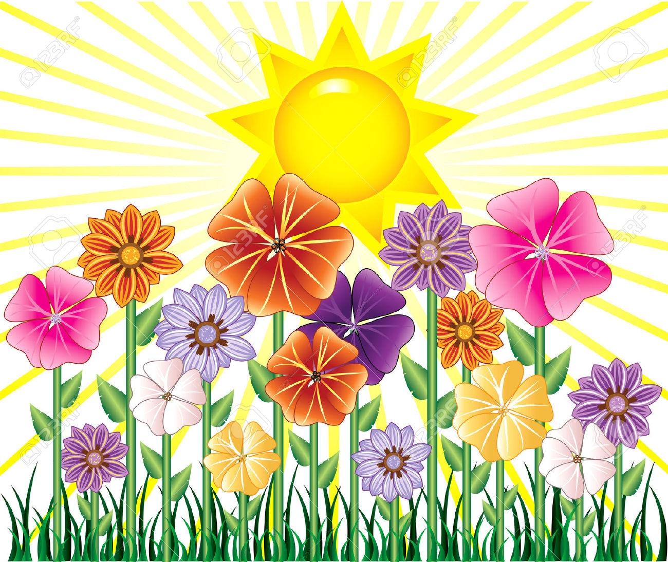 Clipart sunshine scene. Free spring cliparts download