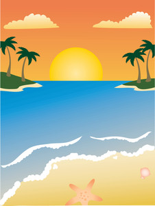 Clipart sunshine scene. Beach clip art library