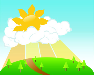 Free cloud cliparts download. Clipart sunshine scene