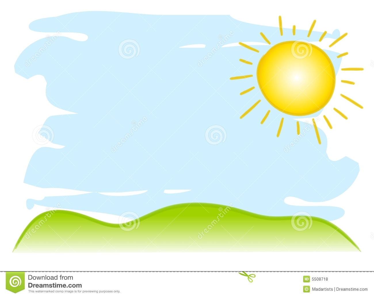 Sun and sky free. Hills clipart day