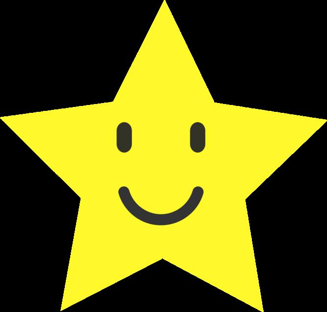 Triangular clipart sunshine. Smiley star clip art