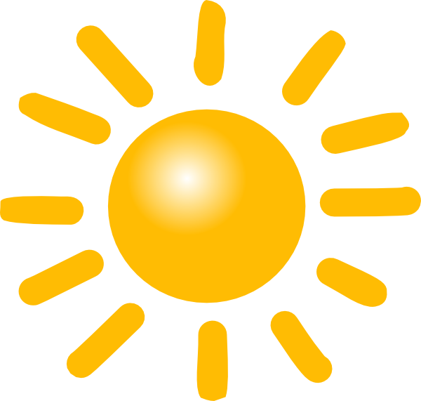 Sunny clipart sign. Weather clip art at