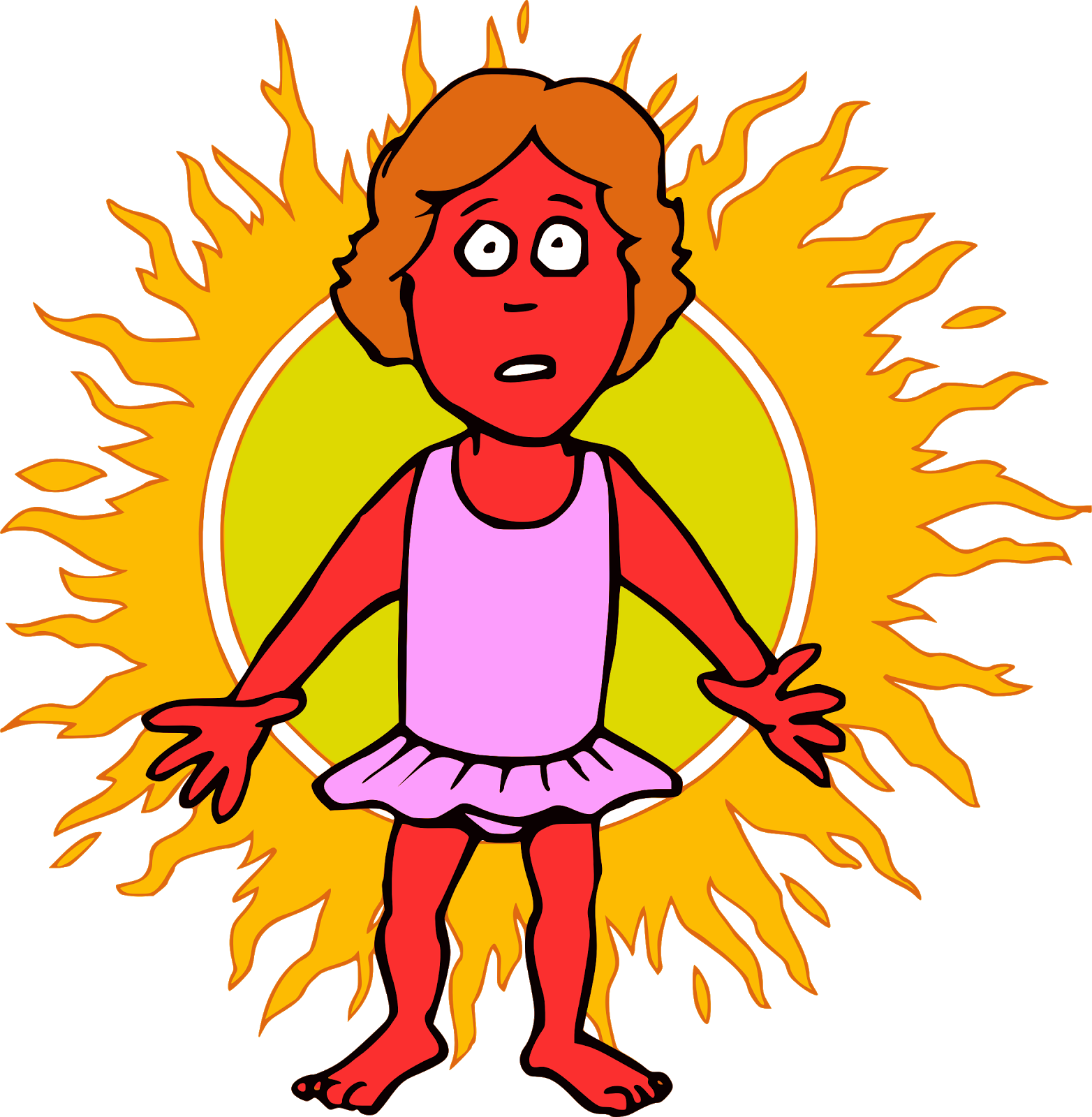 Clipart sunshine sunscreen. Pink petal glow there