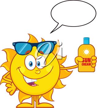Clipart sunshine sunscreen. A sun holding poletje