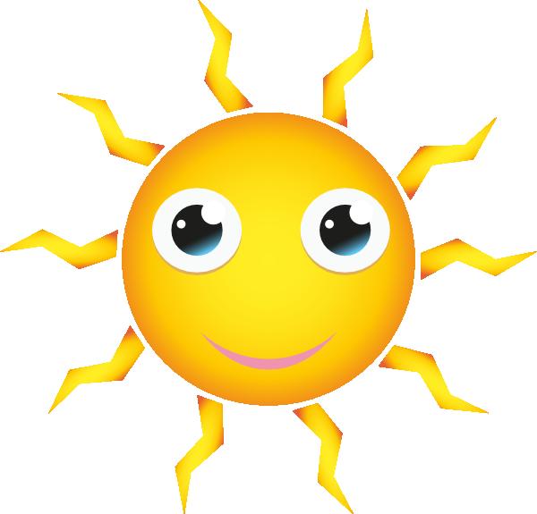 Sunny clipart sun smile. Cartoon hi clip art