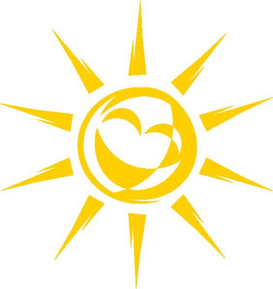 Joyful sun clip art. Clipart sunshine symbol