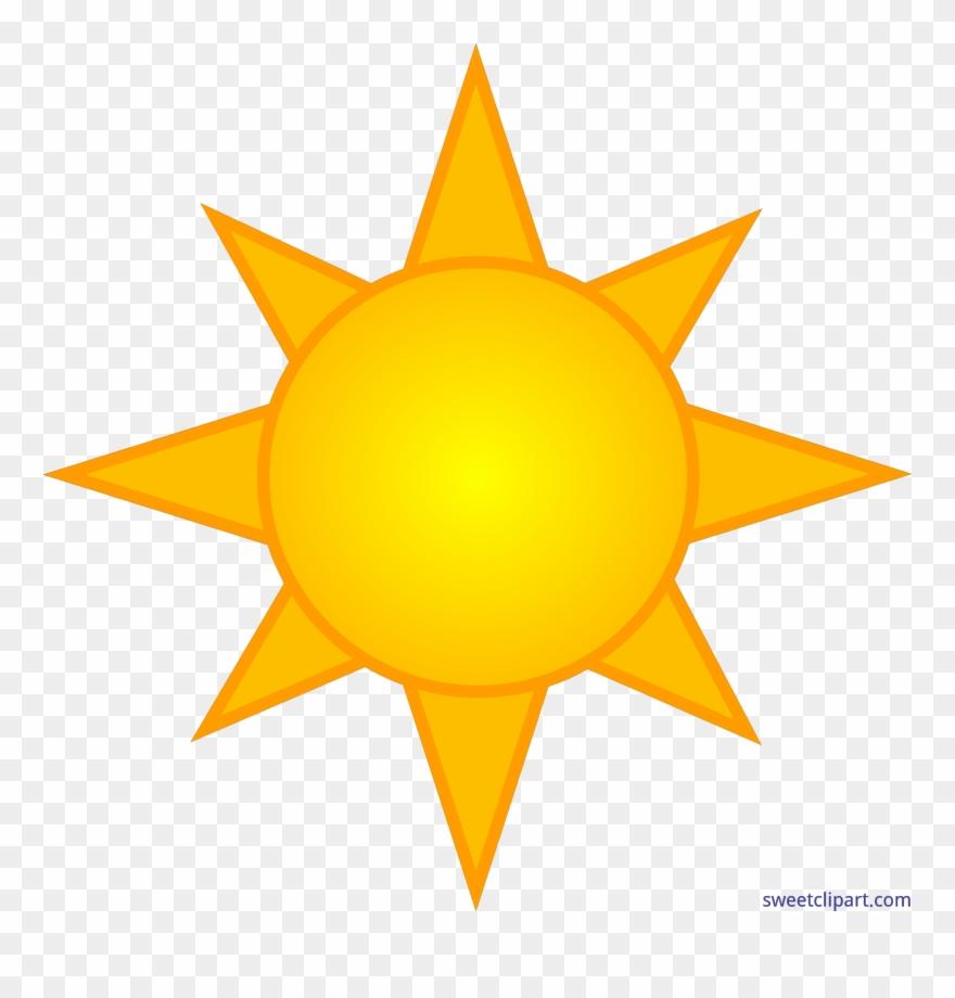 Clipart sunshine symbol. Yellow sun clip art