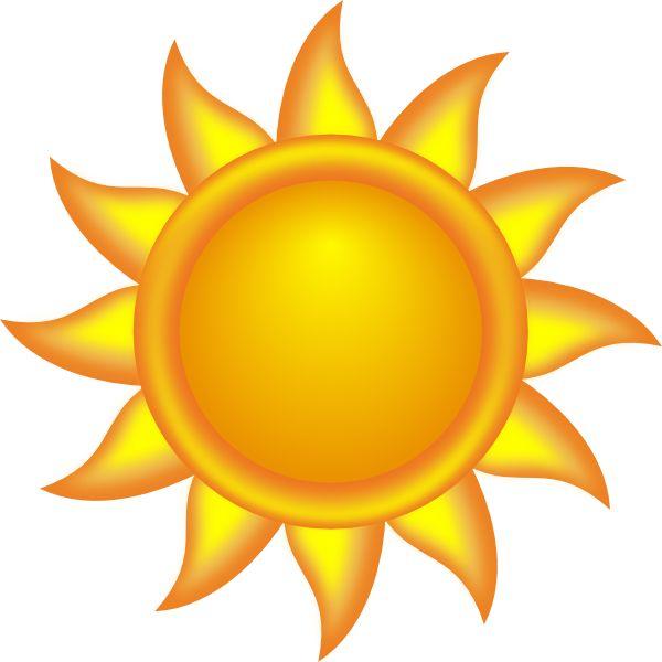Sun decorative clip art. Clipart sunshine theme