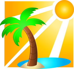 Shining down on a. Clipart sunshine tropical