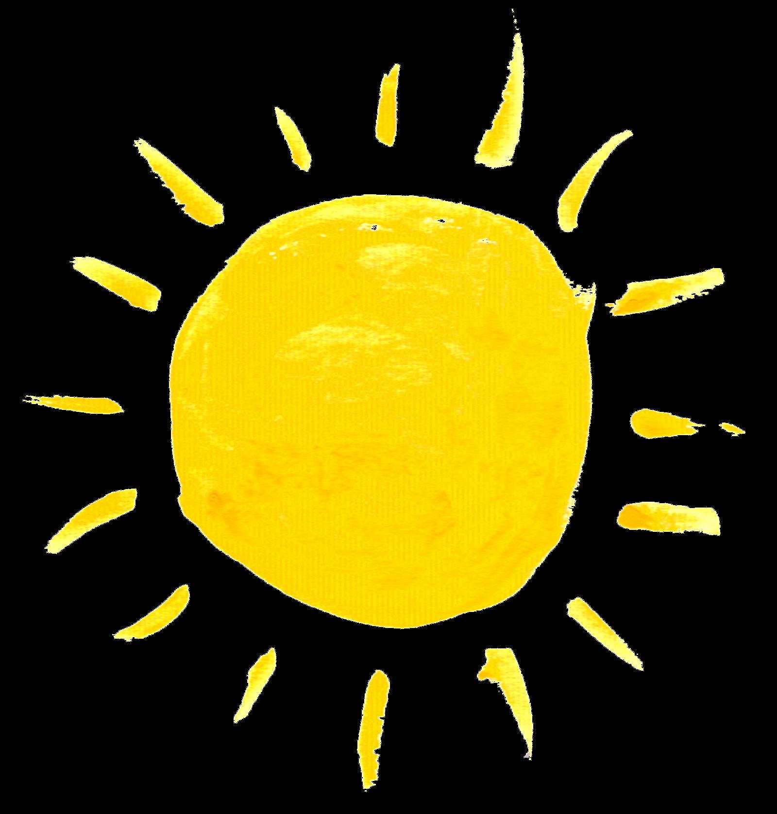Clipart sunshine watercolor. Sun creation in