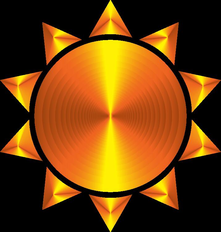 Clipart sunshine winter. Prismatic sun icon variation