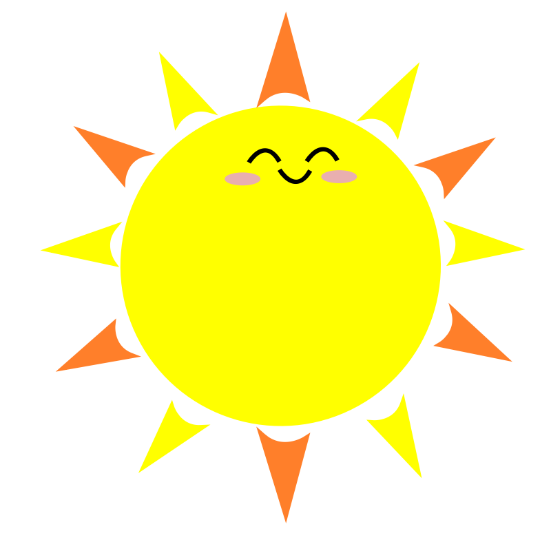 Free cartoon pictures of. Sunny clipart sun smile
