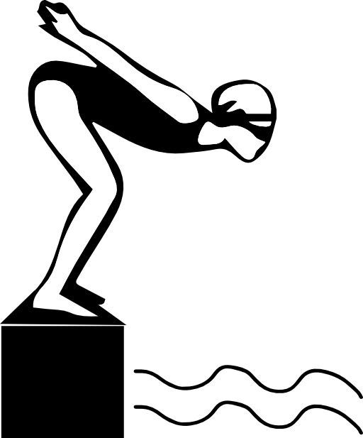 Clipart swimming diving.  best download silhouette