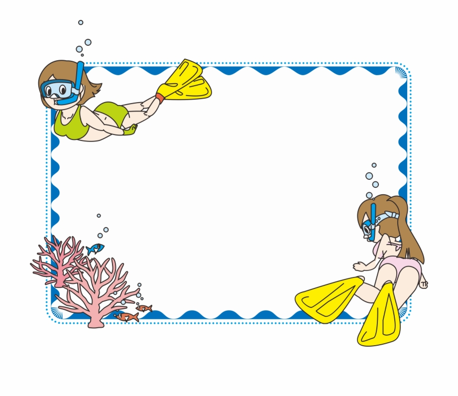 Clipart swimming frame. Png download