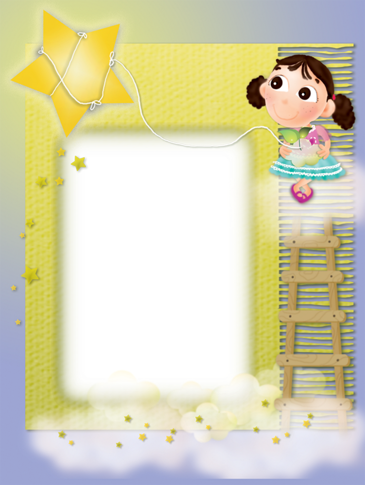 Clipart swimming frame. Yellow kids transparent with