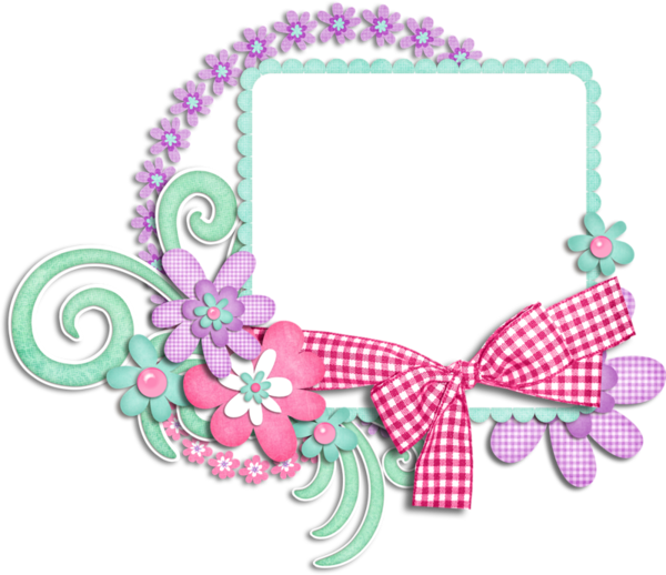 Clipart swimming frame. For scrap booking are