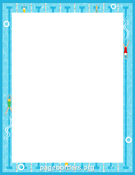 Border keret keretek s. Clipart swimming frame