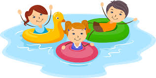 clipart swimming friends