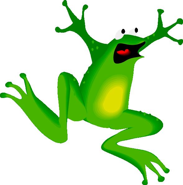 Rana clip art at. Outline clipart frog