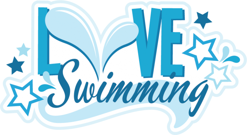 Svg scrapbook title files. Clipart swimming love