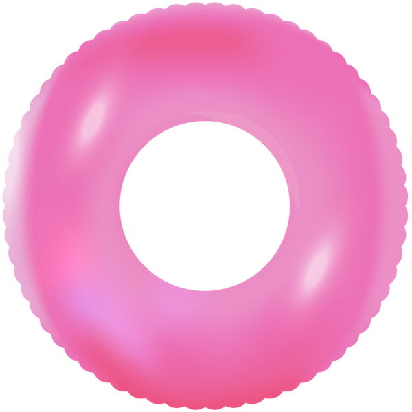 Inflatable swimming ring clip. Wheel clipart pink