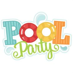 Free pool party cliparts. Words clipart swimming