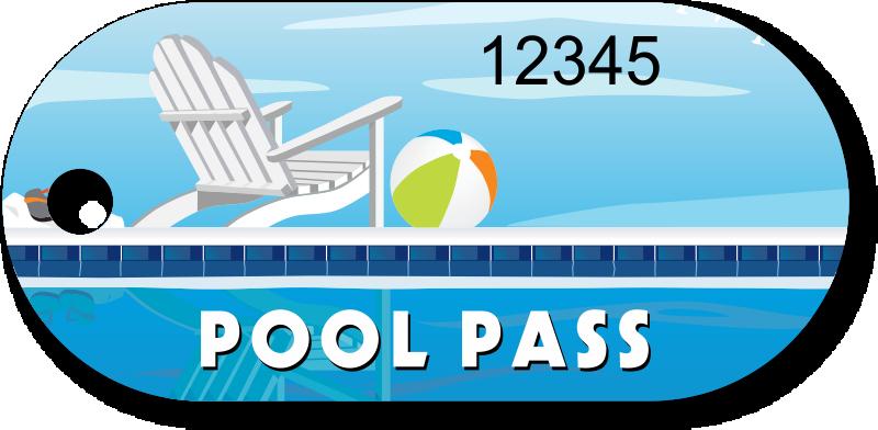Clipart swimming preschool. Wristband pool passes pass
